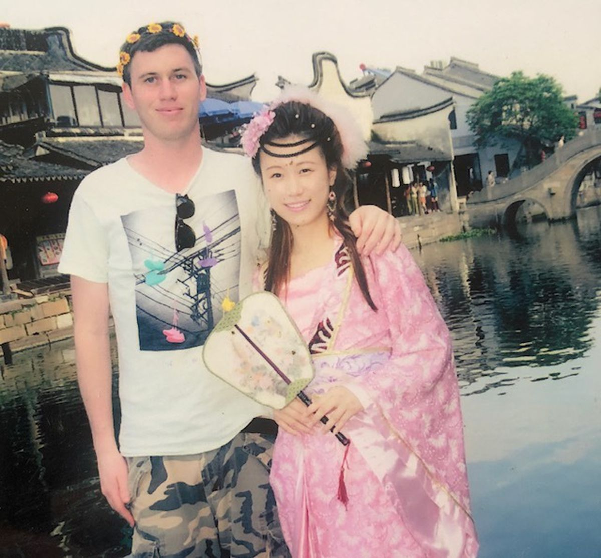Mia and Robert by East Lake in Wuhan, the biggest urban lake in China