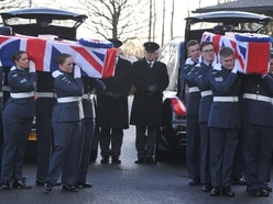 Hundreds at funeral of Telford Dambusters RAF couple who died 10 days apart - with video