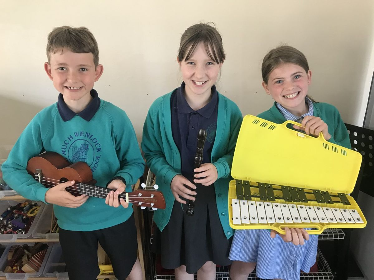 Pupils at Much Wenlock Primary School will receive new musical instruments following a housebuilder's donation