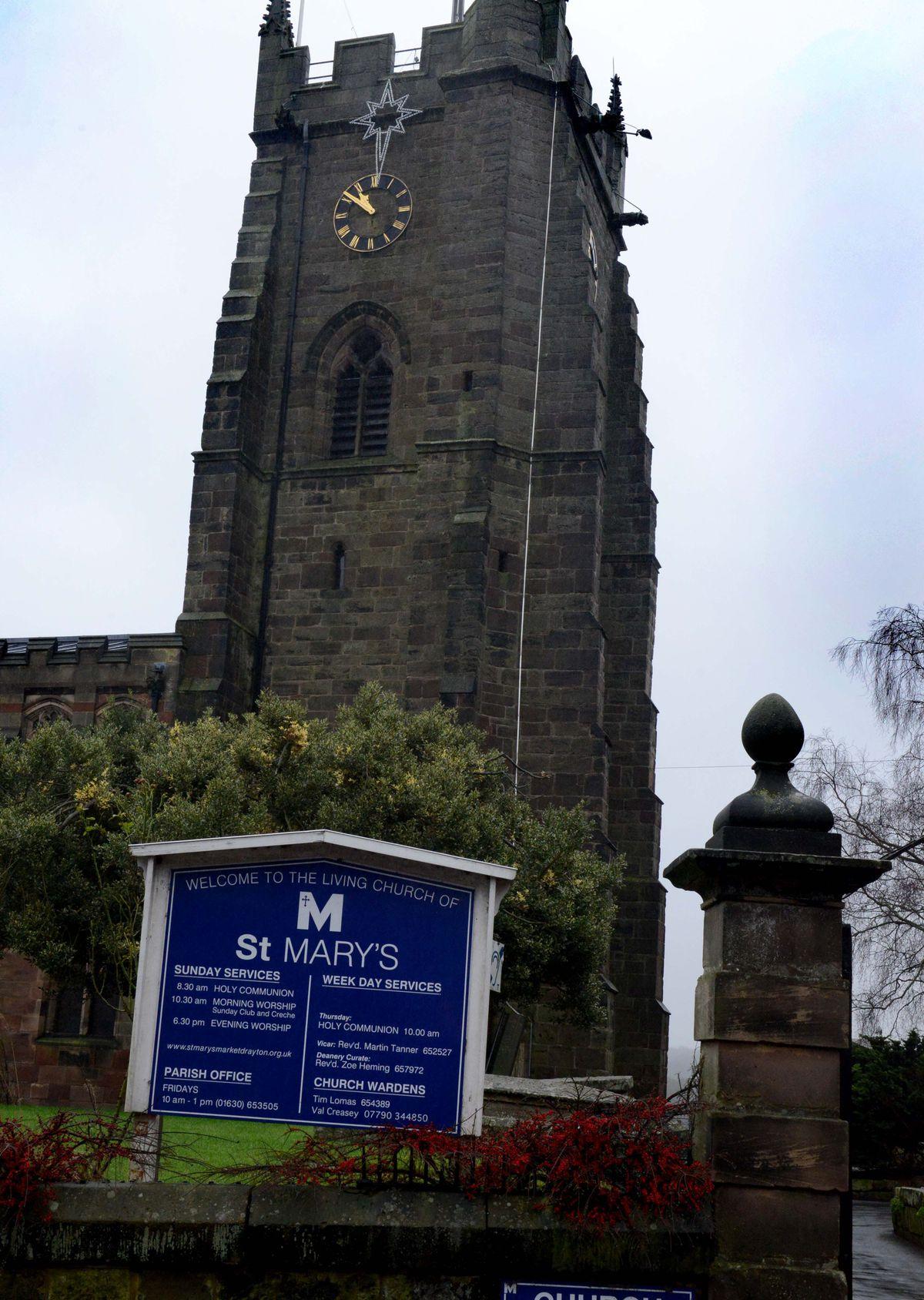 St Mary's Church in Market Drayton