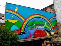 Artist creates huge mural thanking NHS heroes and depicting lockdown life