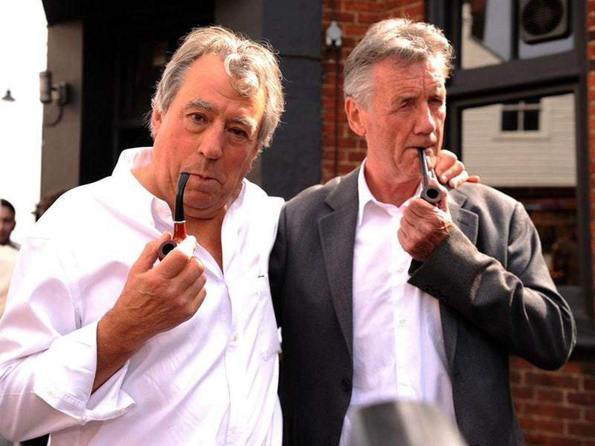 Terry Jones (left) and Michael Palin