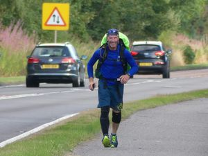 Mike 'Buster' Keating is passing through Shropshire on his lone run