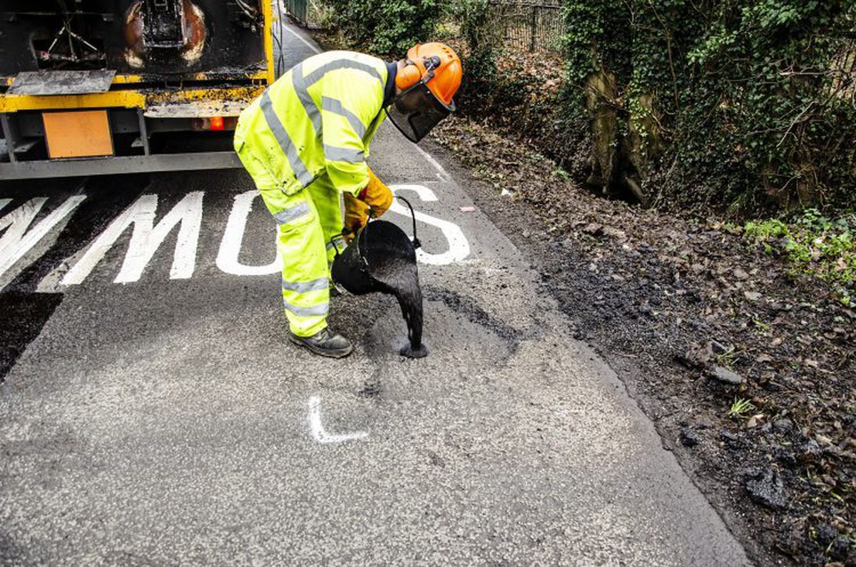 One of the consultant's tasks was improving the county's pothole problem