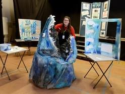 Market Drayton student sculpts shark from plastic bottles
