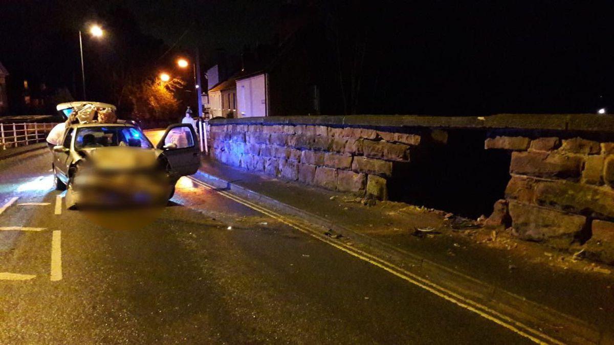 The damage to the bridge. Credit: @OscarMike28