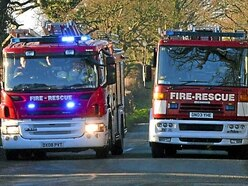 Man cut free from car after crash near Craven Arms