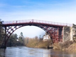Crowds flock back to see iconic Iron Bridge after renovation