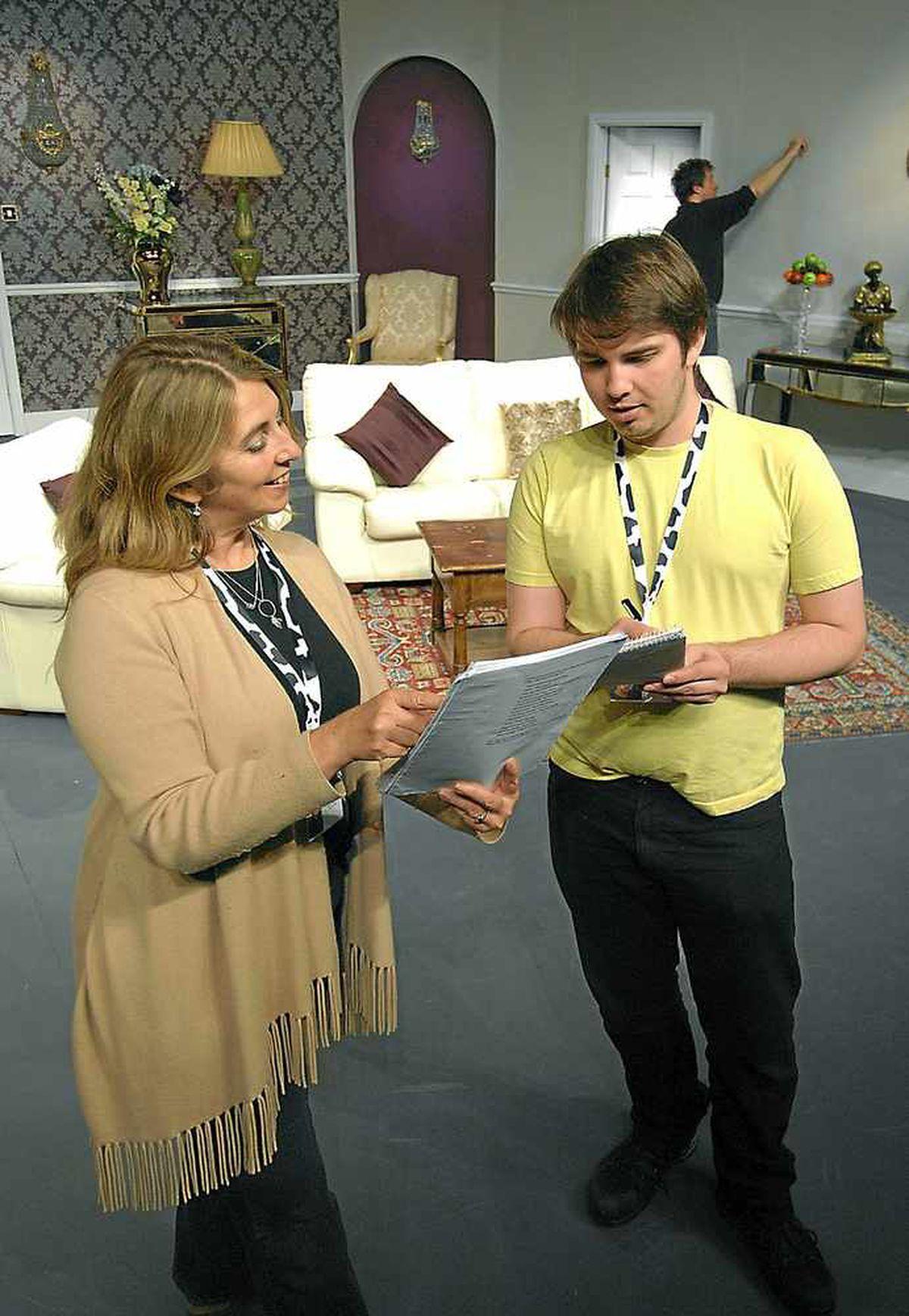 Director Alex Hinton and her son, sound designer Andrew