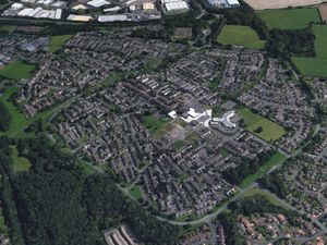 An aerial view of Sutton Hill in Telford. Photo: Google