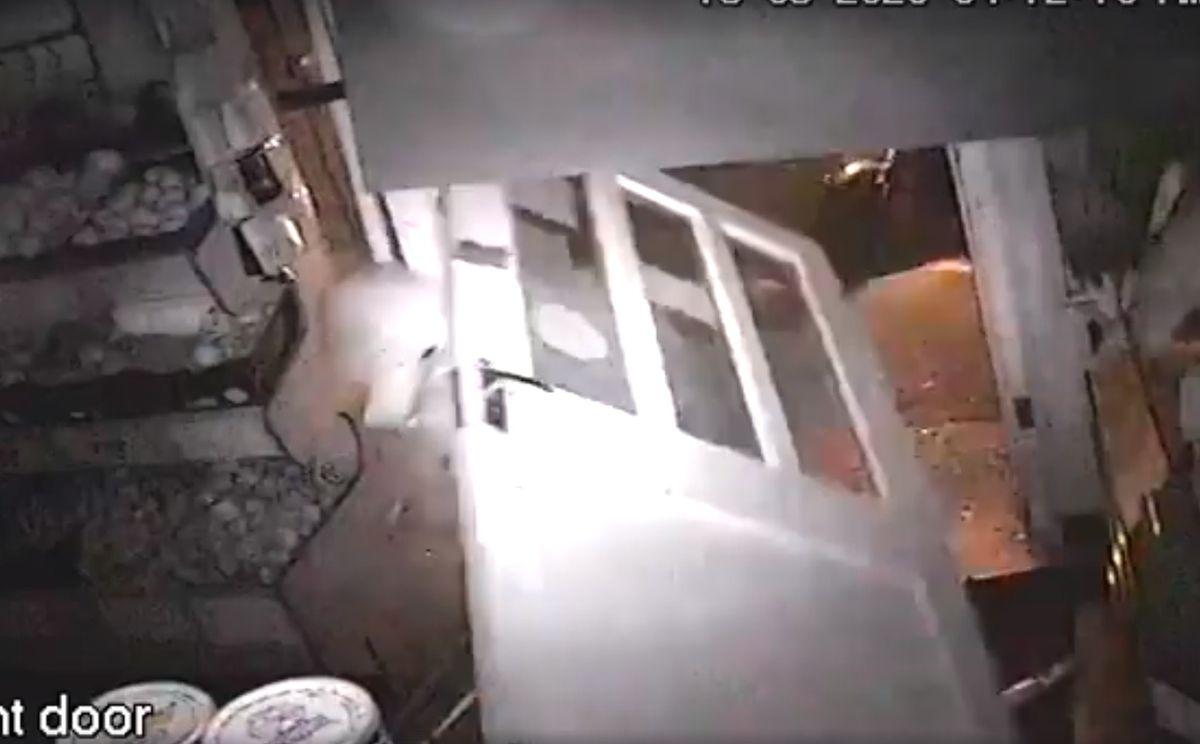 CCTV of the raid at A&B Fruits