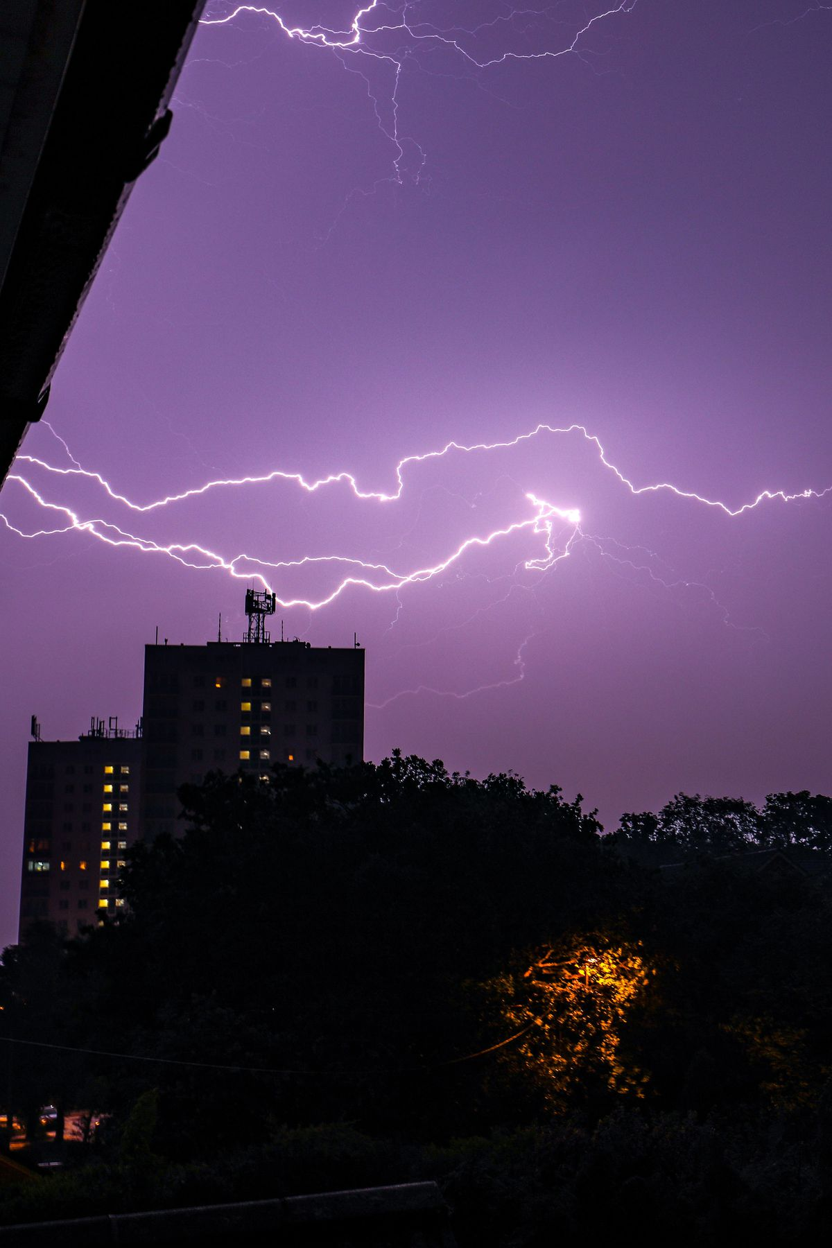 Lightning in Walsall. PICTURE: Shaun Fellows/Shine Pix