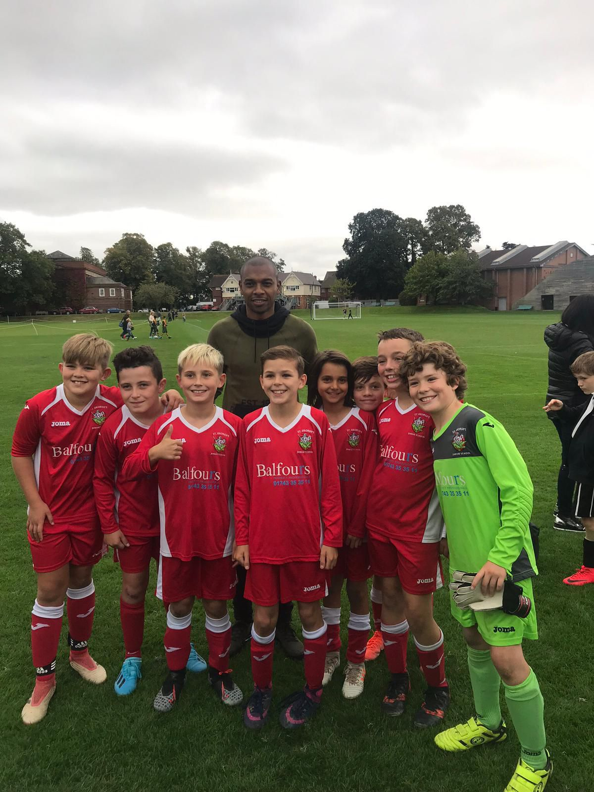 Fernandinho with the St Georges under 11s team