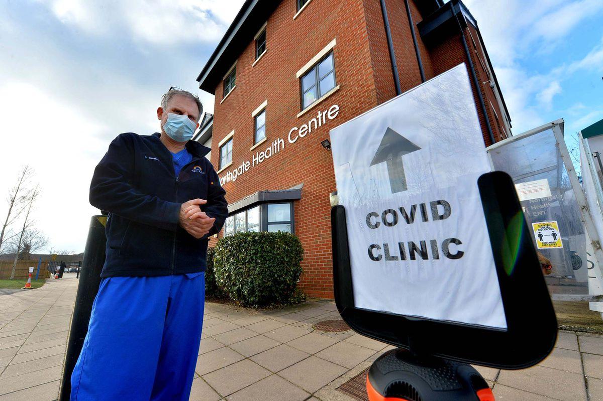 Dr James Swallow at Bridgnorth's Covid clinic