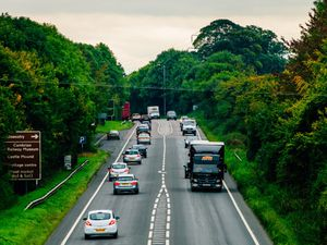 The A5 between Oswestry and Chirk