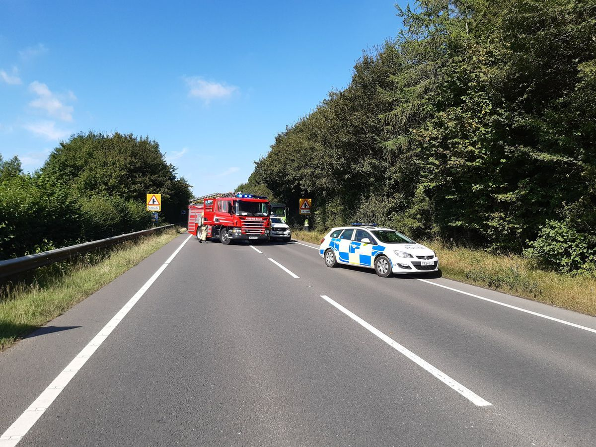 Incident on the A49. Photo: @SouthShropCops