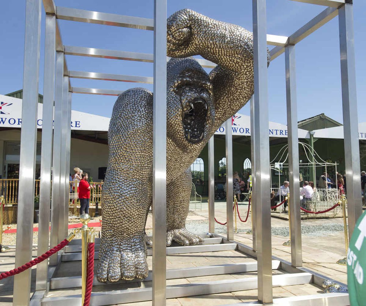 Uri Geller's giant spoon gorilla set to stay in Shropshire