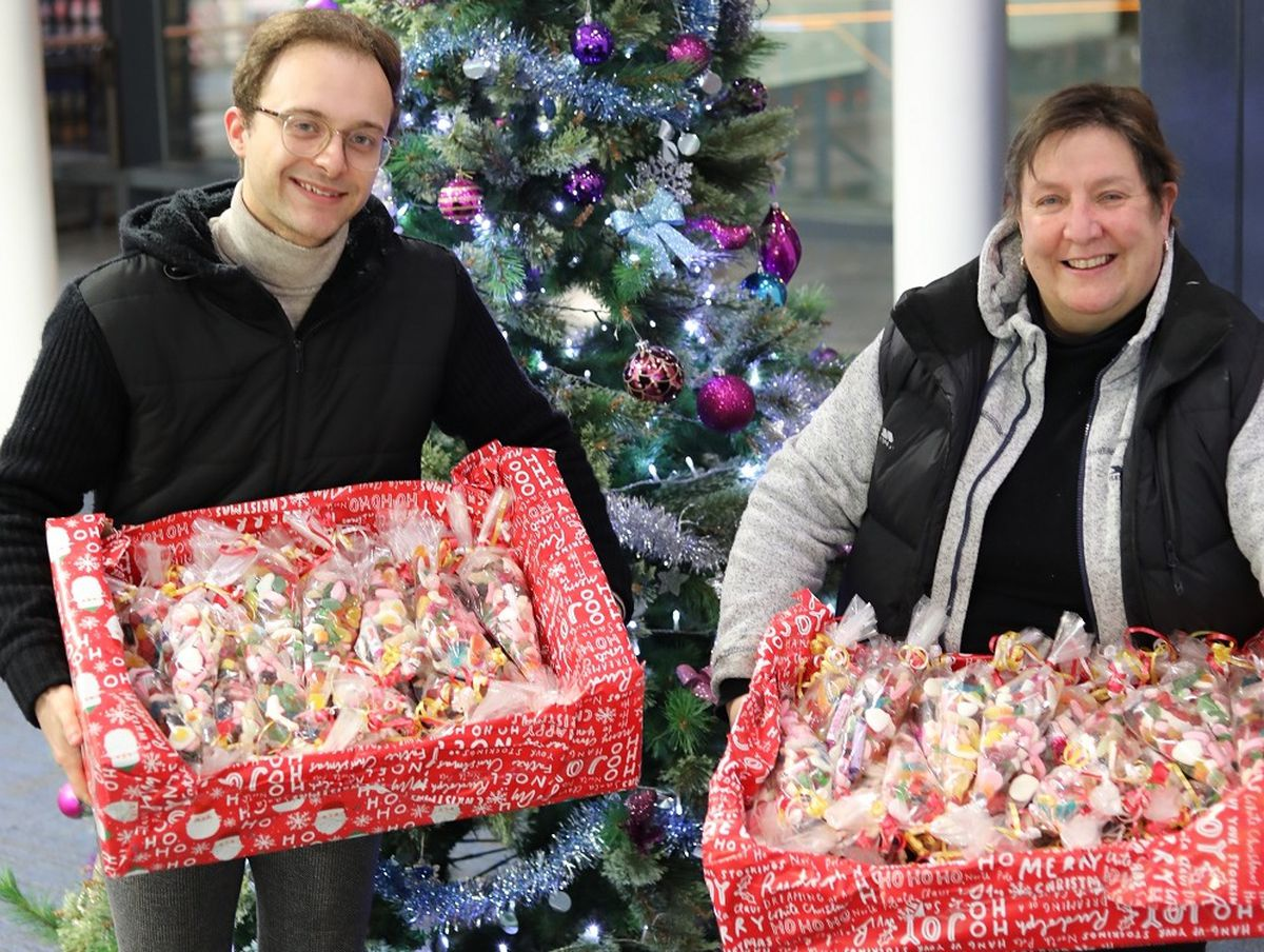 The team from Sweets Galore in Wellington delivering their treats
