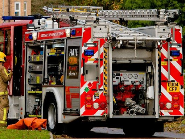Wheelie bin fire at Telford property