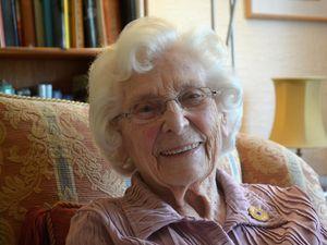 Betty Webb, 96, is doing her bit to boost morale among older servicewomen