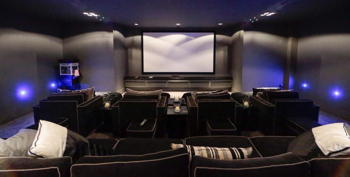 The home cinema is one of the most luxurious features. Picture: Rightmove