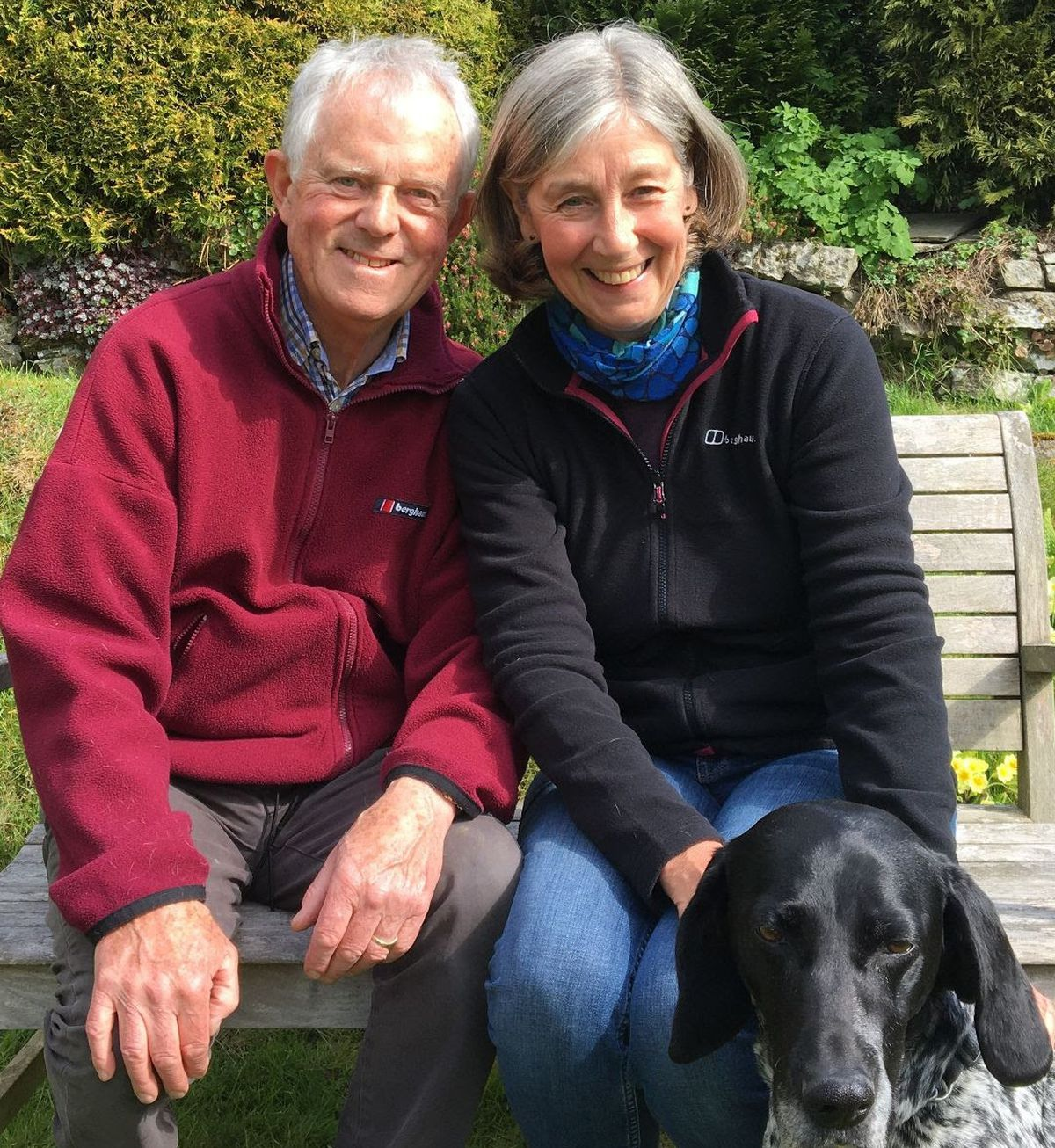 Steve and Juliet Gibbon, with their dog, Poppy