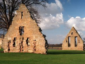 This ruin at Acton Burnell is arguably one of the most historically important tithe barns in Britain, being the site in the 13th century of the first meeting of parliament.