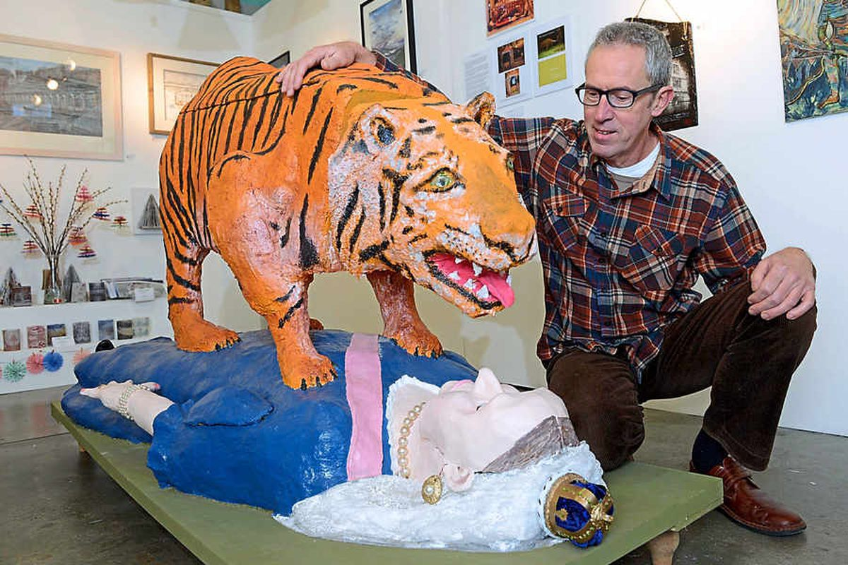 We are not amused: Shropshire artist's tiger creation proves too much for National Trust