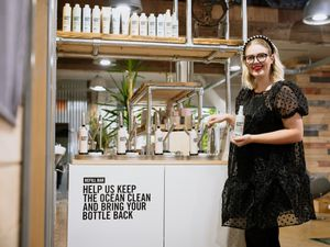 Brooke Evans of B. E. Ironbridge now stocks Authentic Beauty Concept's special refill station for its products