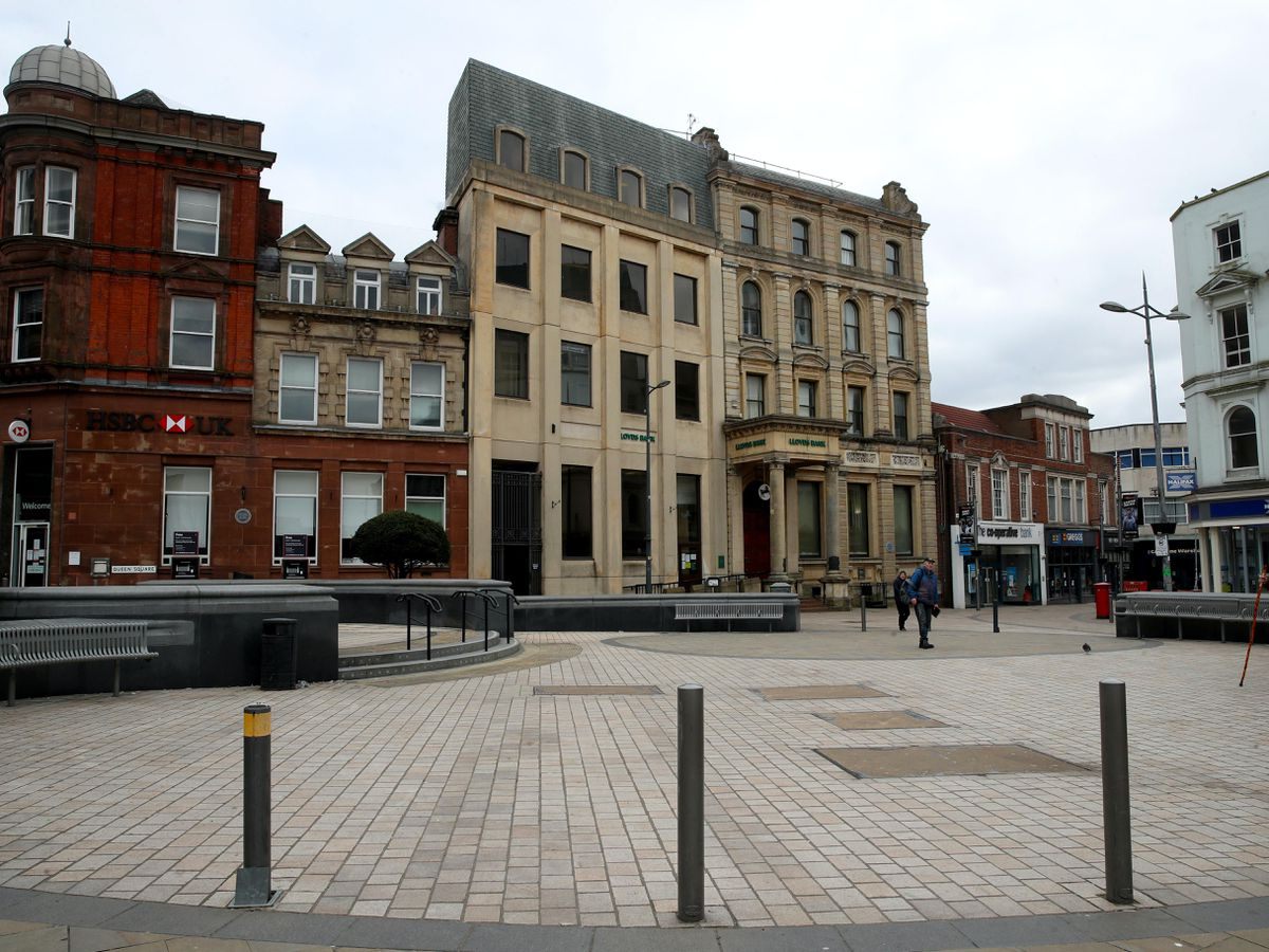 Queens Square in Wolverhampton city centre (Nick Potts/PA)