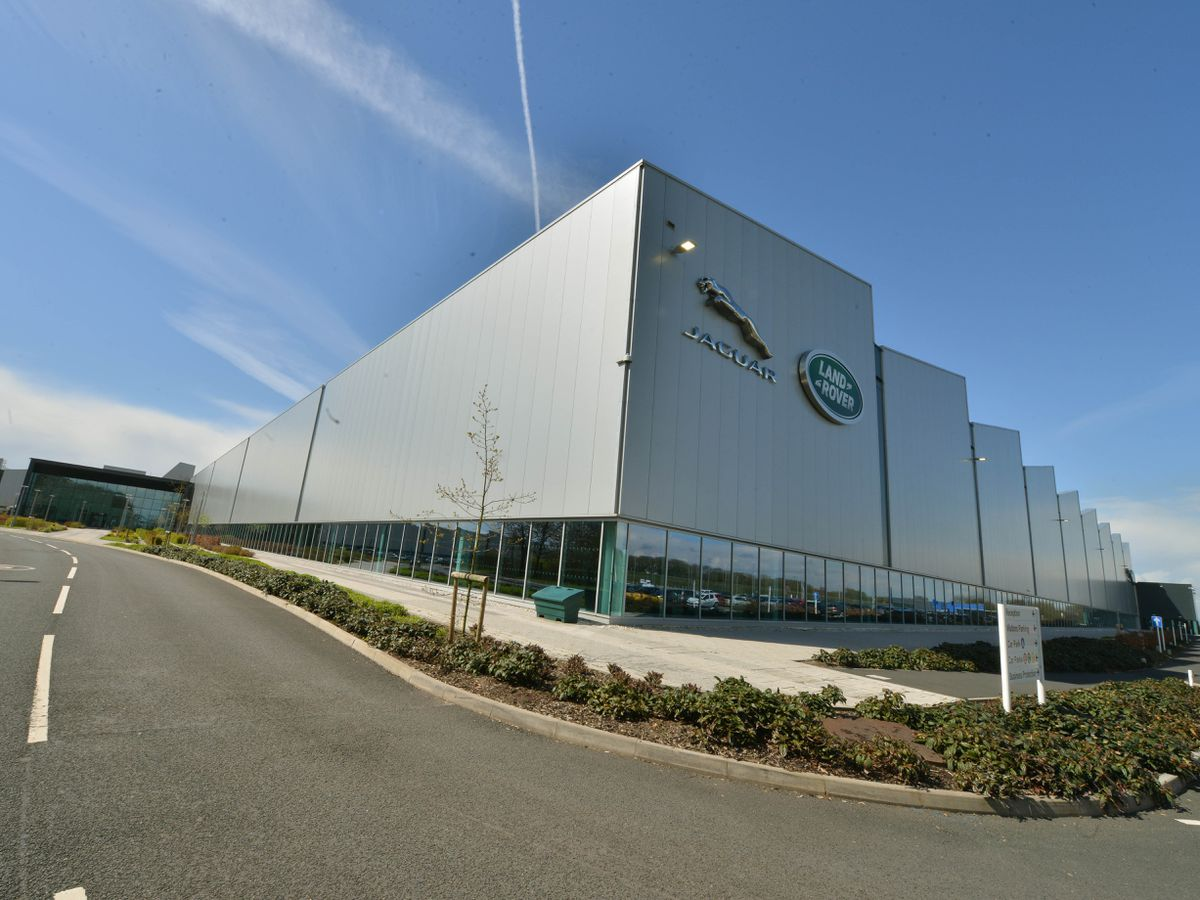 The Jaguar Land Rover is planning to switch its engine plant near Wolverhampton to the manufacturing of electric motors. .