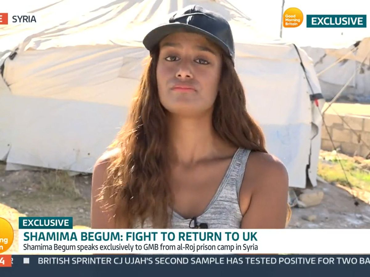 Video grab taken from ITV of Shamima Begum speaking to Good Morning Britain