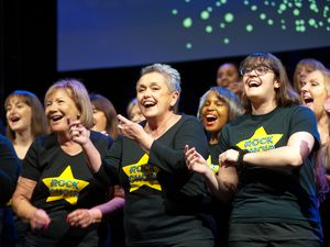 Rock Choir members from Bridgnorth, Shrewsbury, Telford and Wolverhampton have reunited for live singing rehearsals