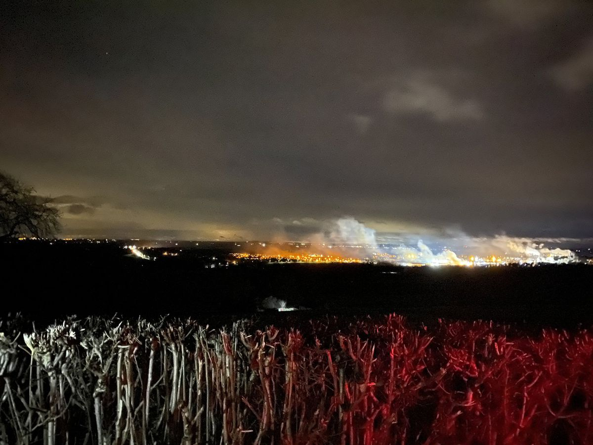 The fire can be seen from Chirk Castle. Picture: Councillor Gareth Baines.
