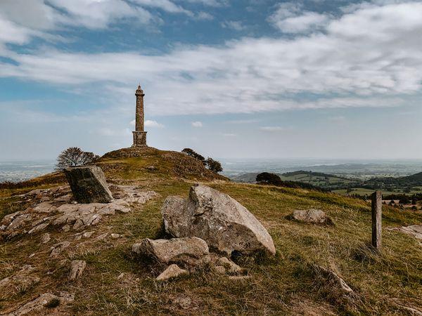 Admiral Rodney's Pillar on top of Breidden Hill