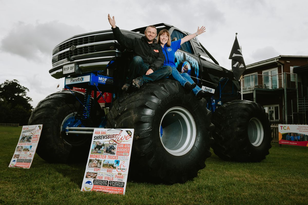 Michael Murty, with his Grim Reaper monster truck, and showground manager Jan Forrest