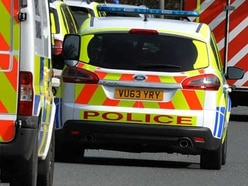 Overturned car closes A449 near Gailey