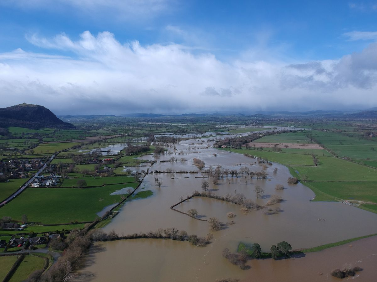 The flood plains looking towards Rodney's Pillar. Photo: Tom Seward