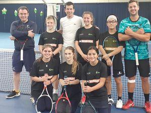 Pupils took on tennis sensation Tim Henman in a 24-hour marathon