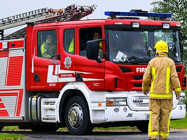 Six fire crews tackle basement fire near Church Stretton