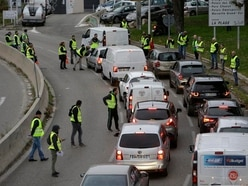 French drivers blocking roads in protest at rising fuel taxes