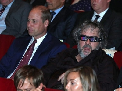 William watches premiere of Peter Jackson's First World War film