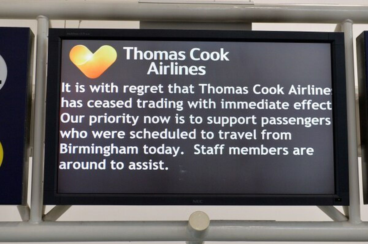 The message to passengers in Birmingham