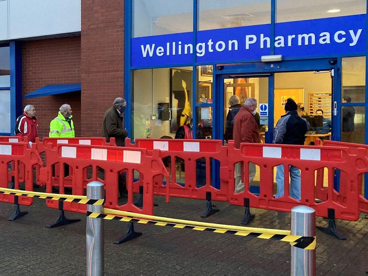 The vaccination centre at AFC Telford United. Photo: Telford & Wrekin Council.