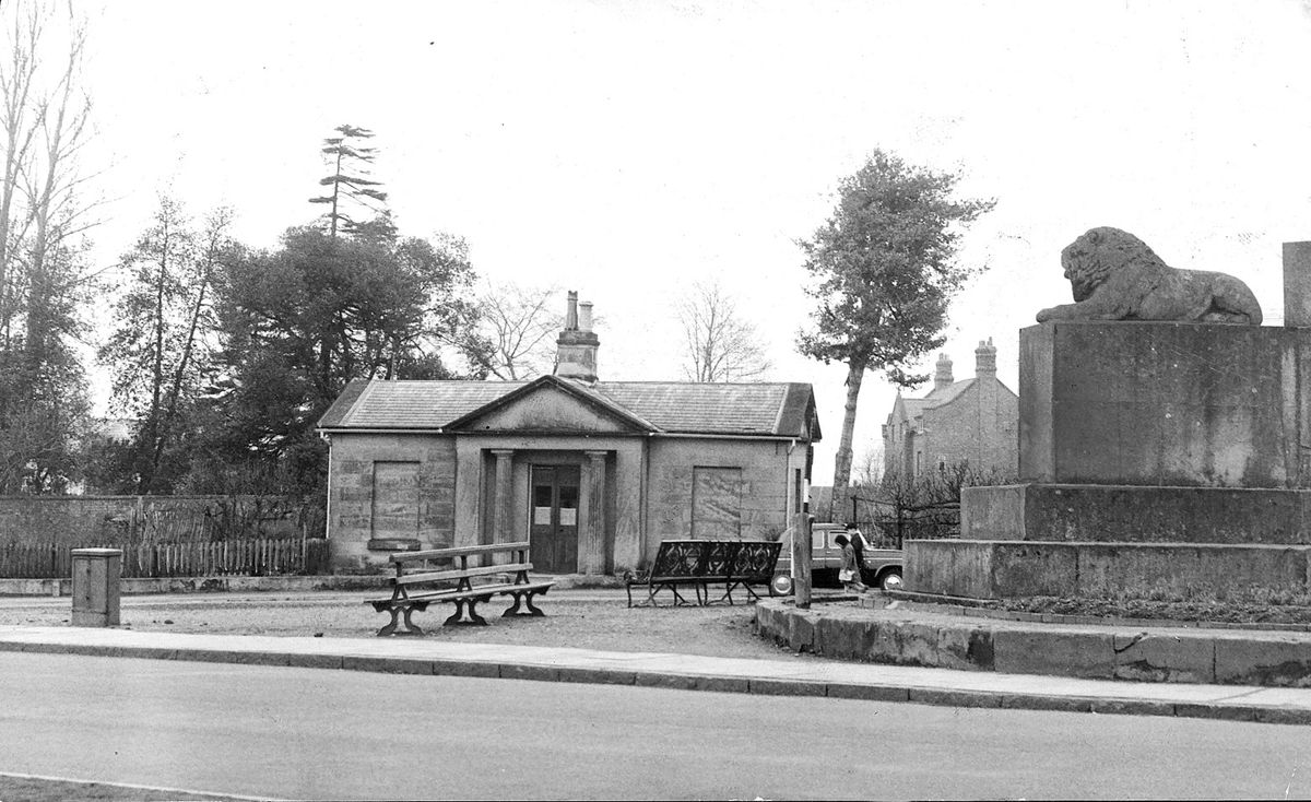 This building, pictured here in March 1963, was demolished.
