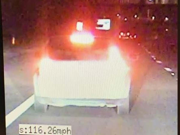 Man arrested after overtaking police at 116mph on the M54