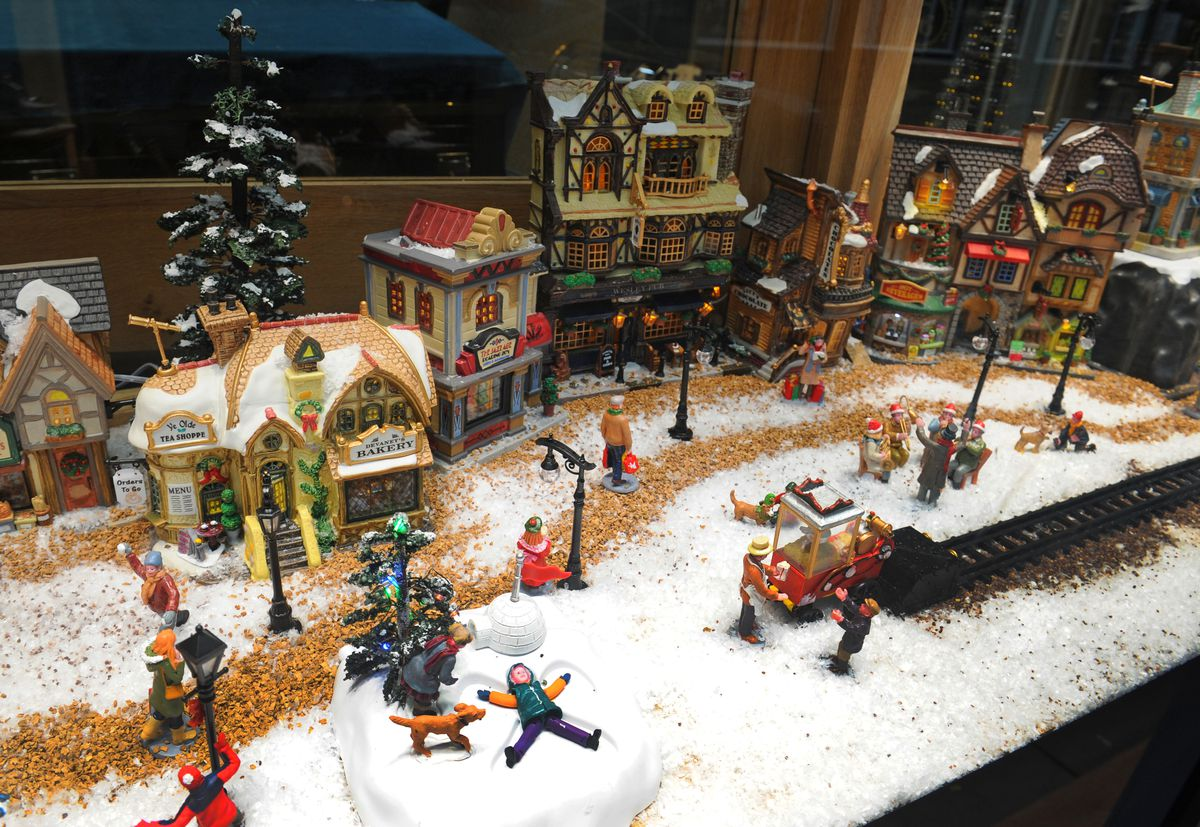 The winter wonderland display took more than 15 hours to set up