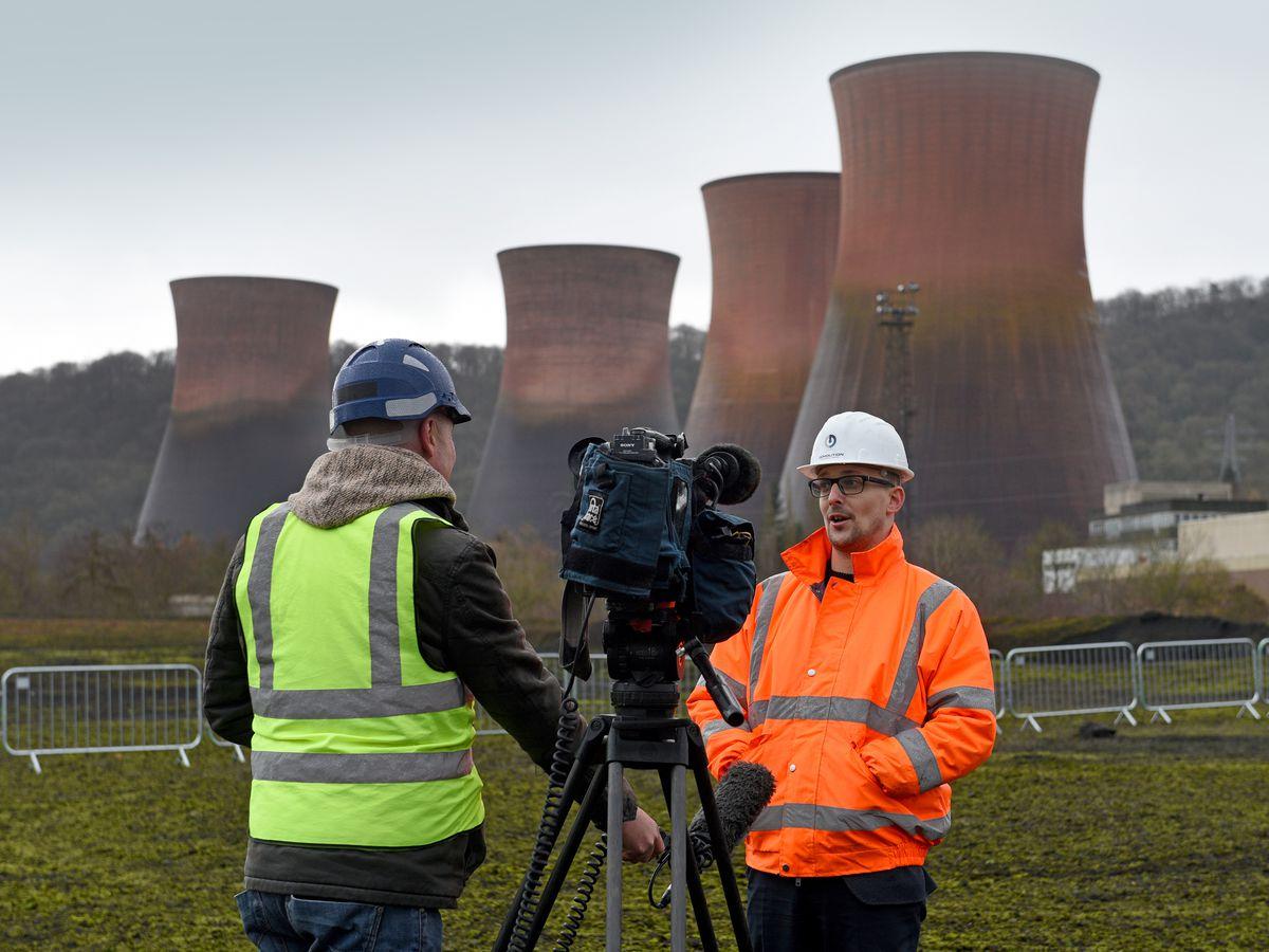 Iain Thompson, head of communications speaks to the media