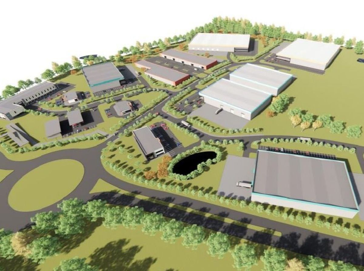 How the Oswestry Innovation Park could look.