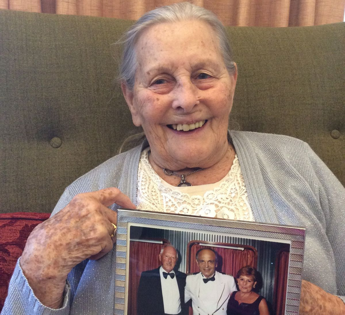 Mary Layborne keeps a photo of her late husband Eddie close to her